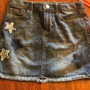 Gap kids denim skirt with stars size 10